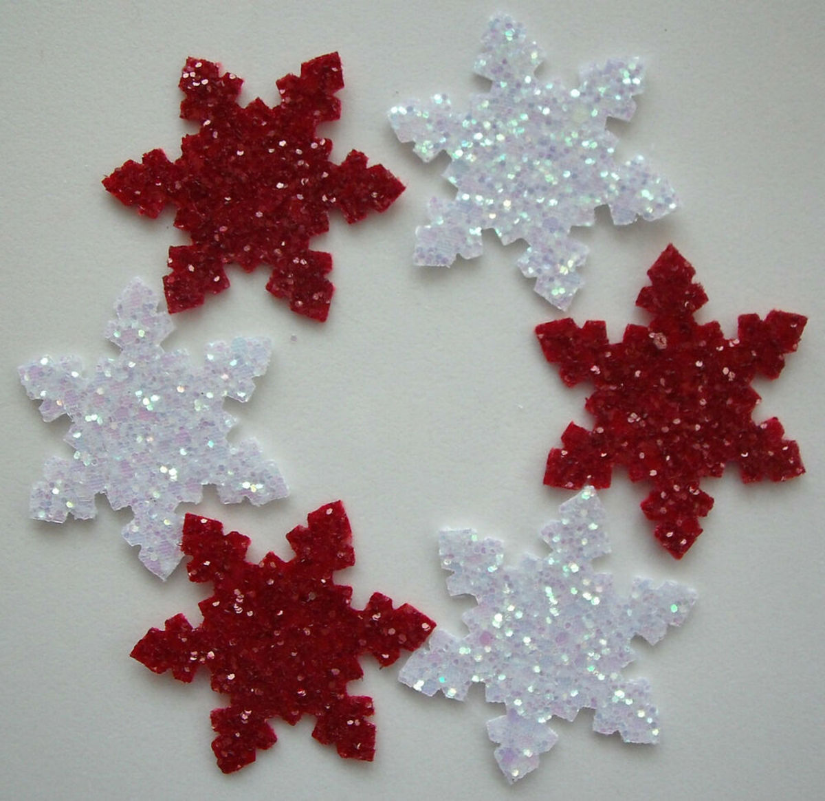 You can make any die cut special with your own glitter paper