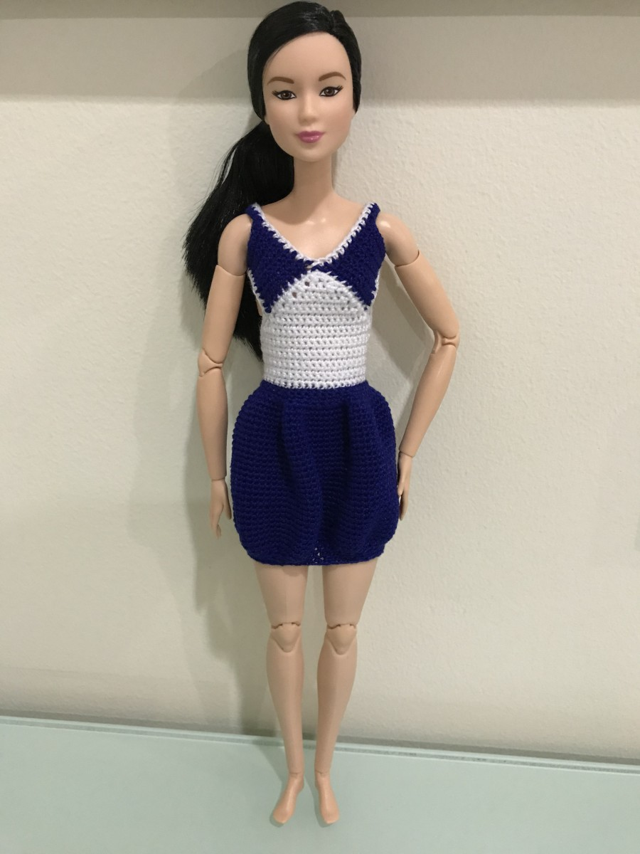 Barbie V-neck bubble dress.
