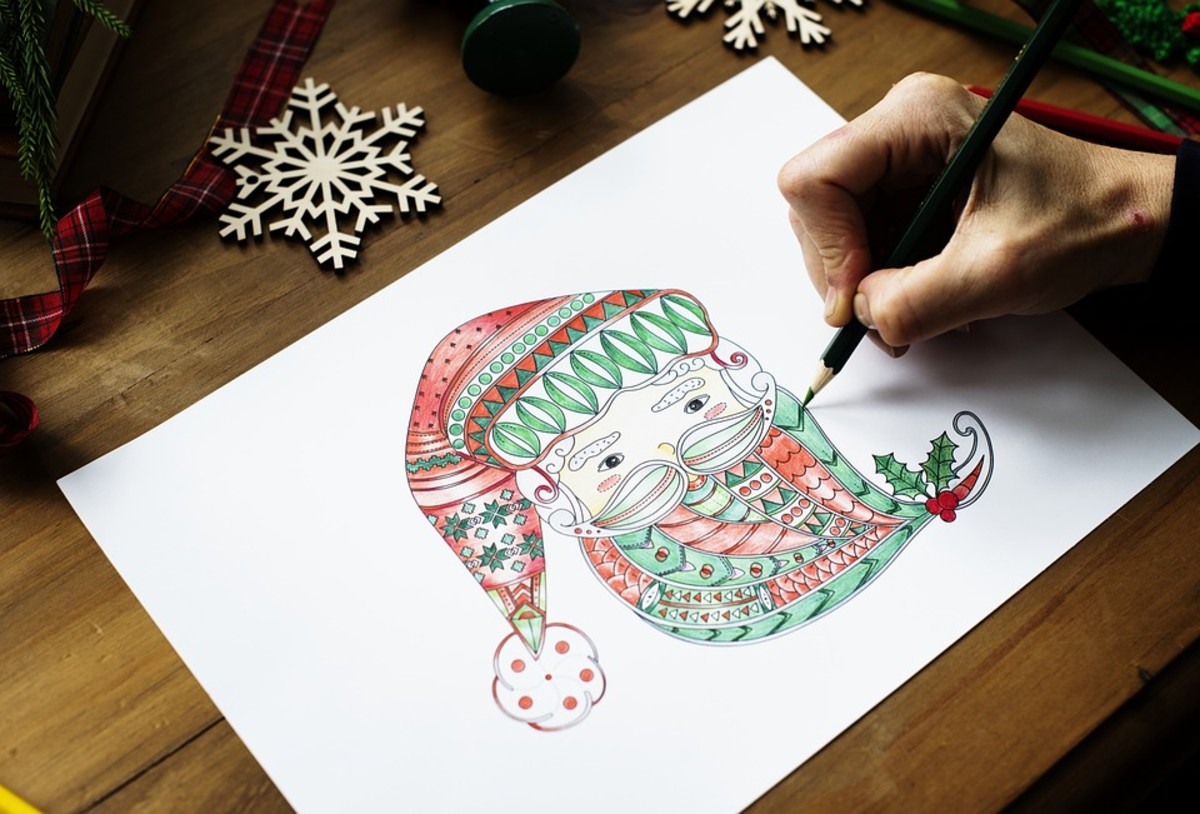 For some, creating their own outlines also provide a relaxing time and sense of achievement.