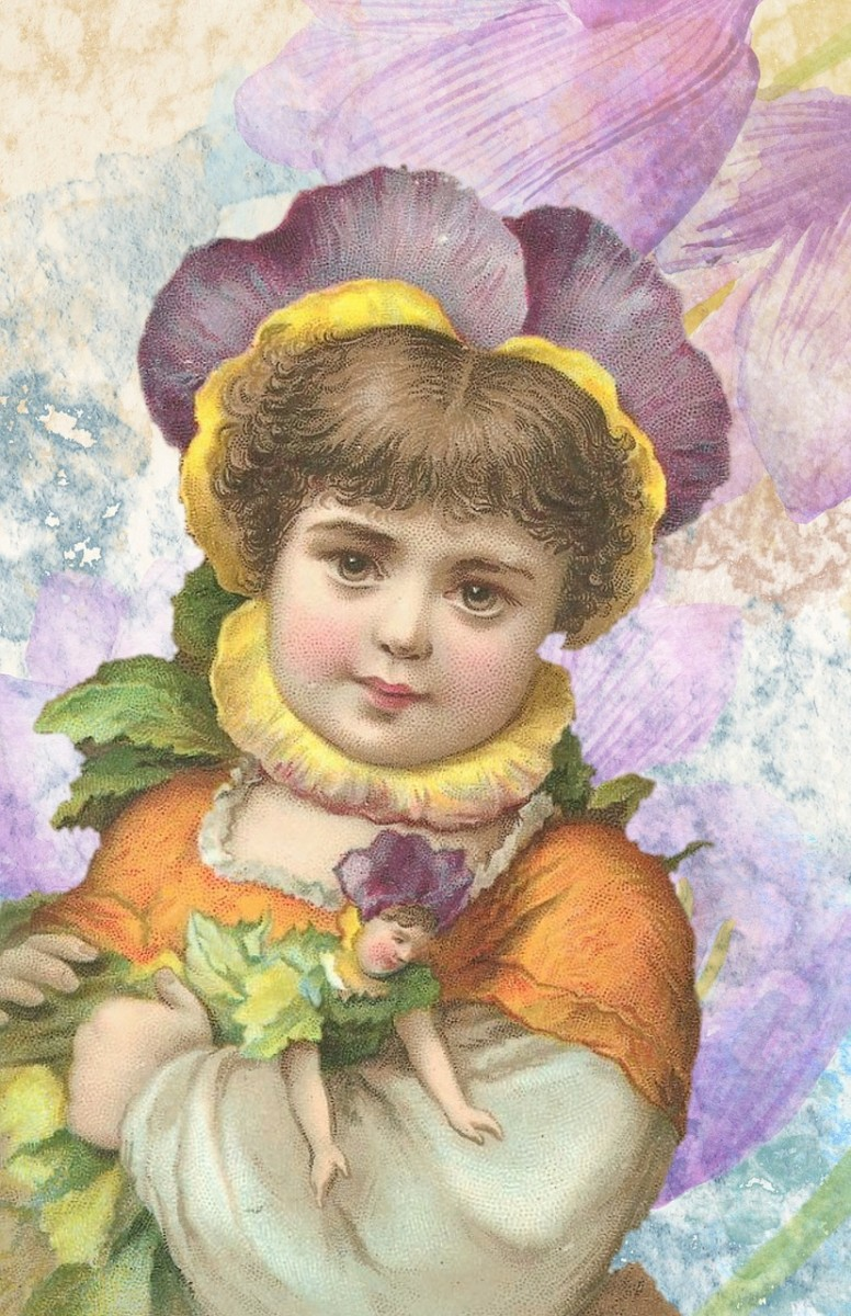Portrait Coloring of a Young Child: Starting with the background also helps to determine the remaining colors as you move forward in the coloring process.