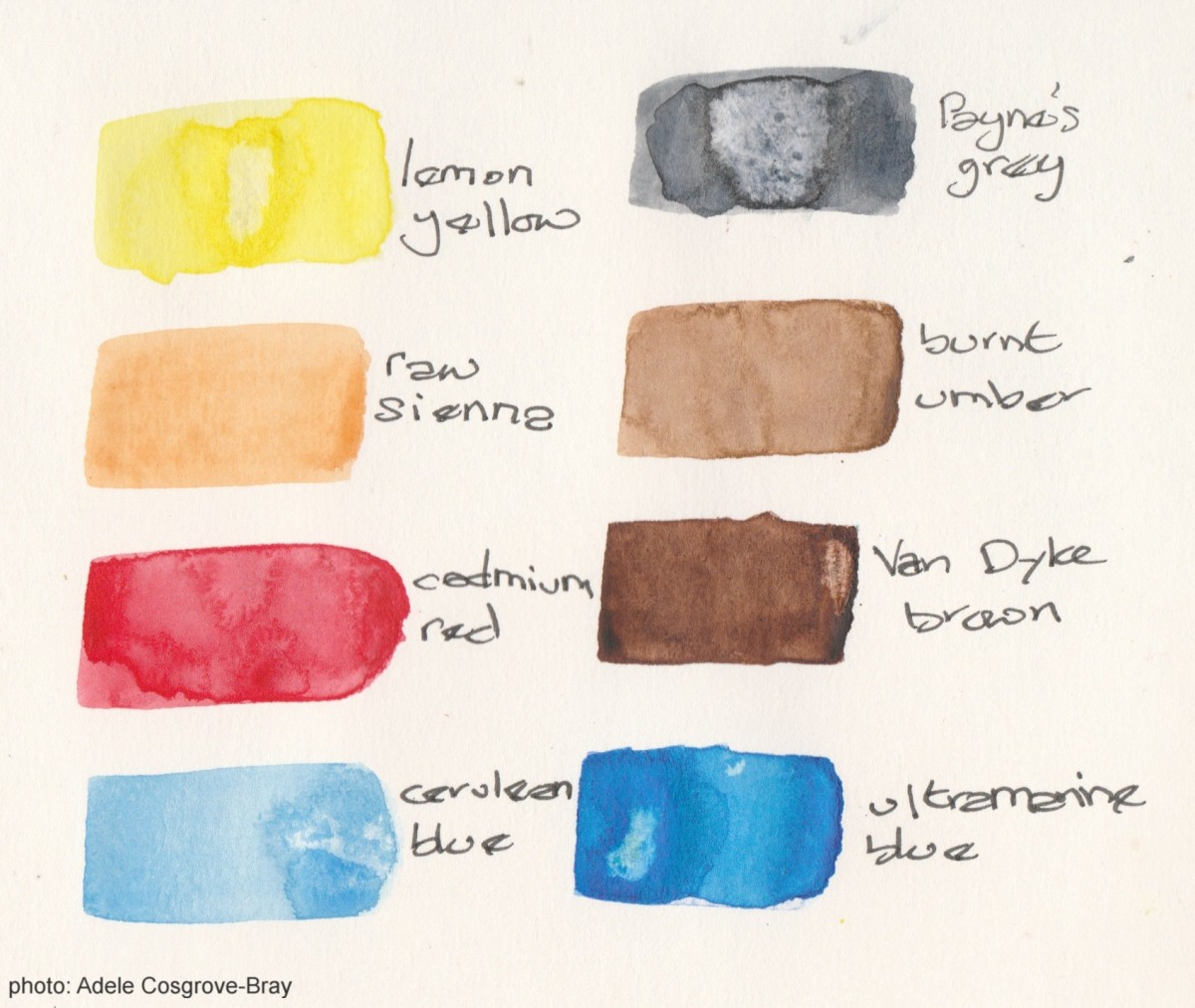 Just eight paints are enough to get you started with watercolours.