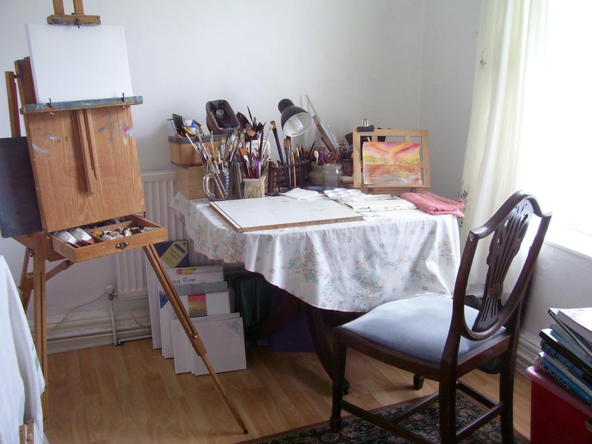 The author's art studio, July 2018.