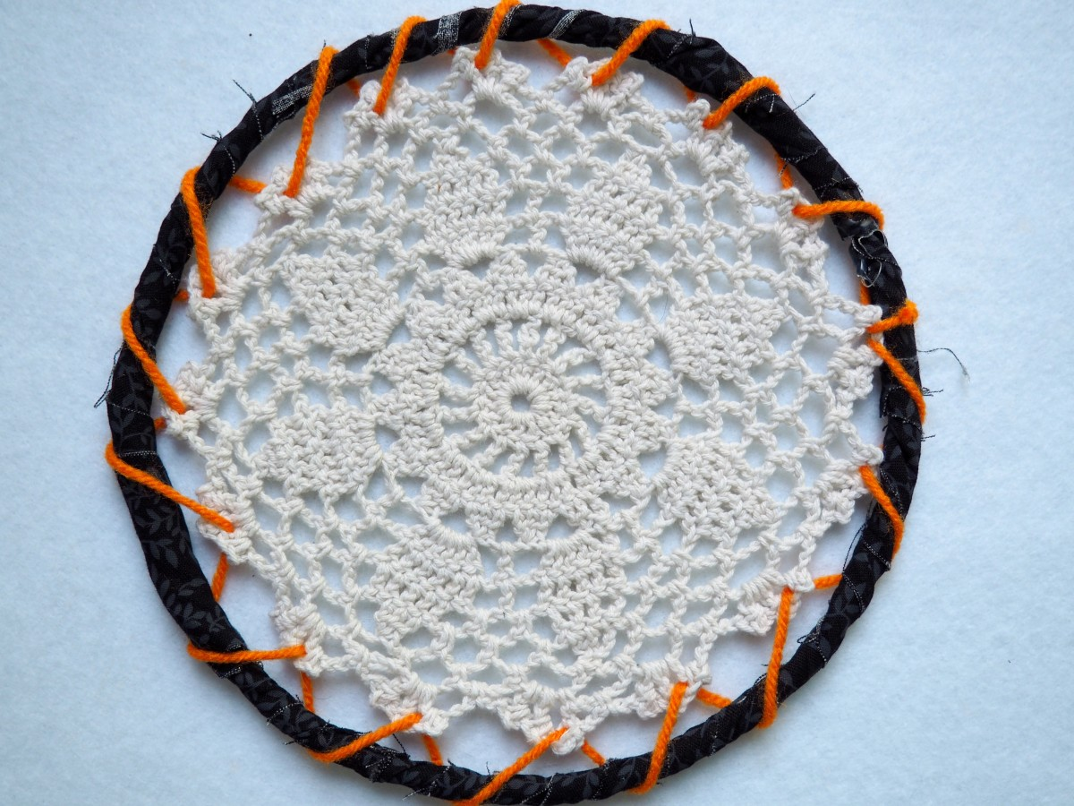 After the doily has been added.