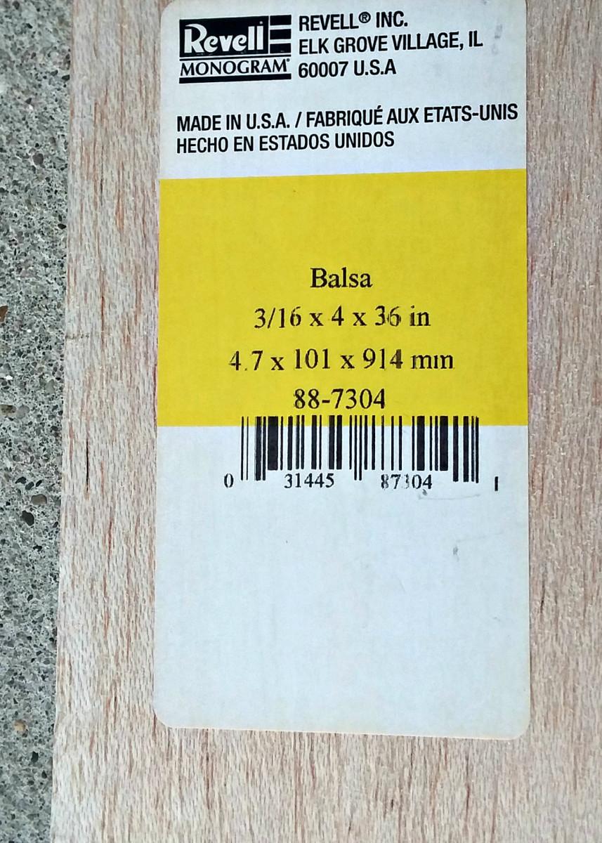 Balsa wood.