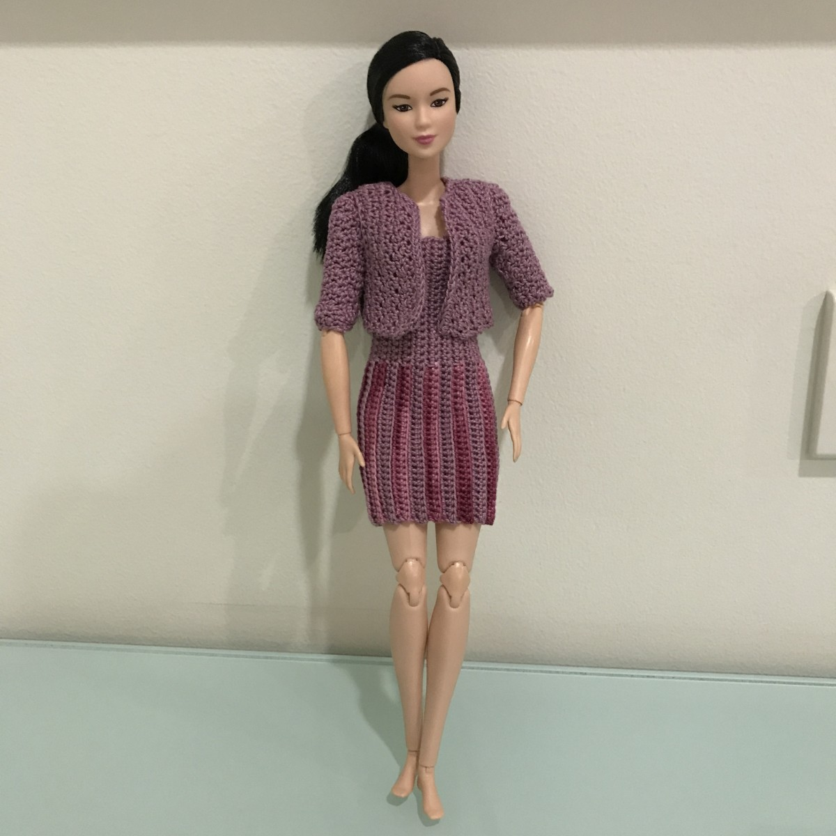Barbie Blazer with Barbie Vertical Striped Dress