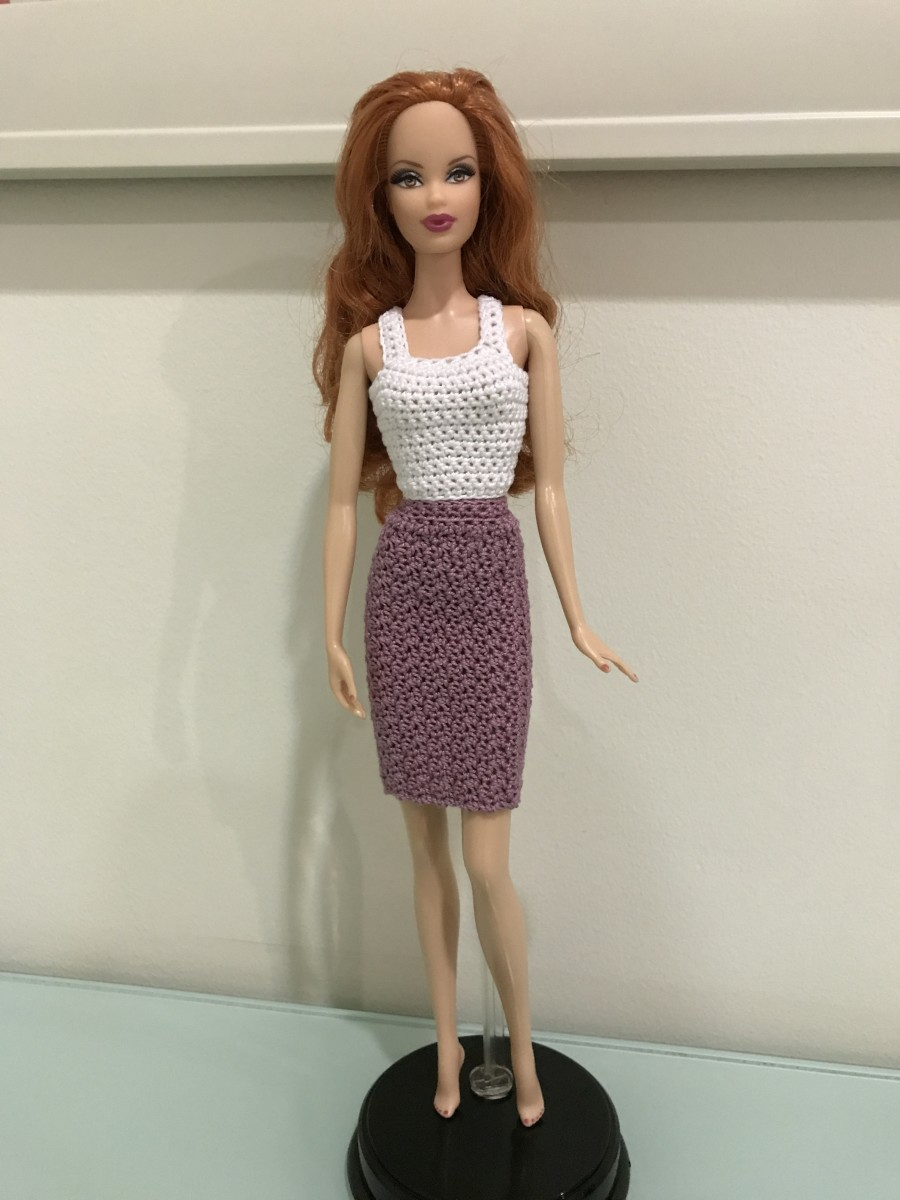 Barbie Pencil Skirt and Tank Top