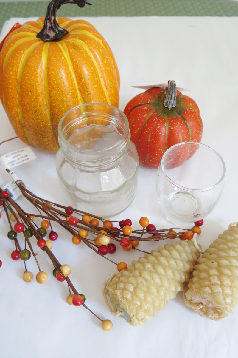 Materials for Making Candle Holders Using Pumpkins