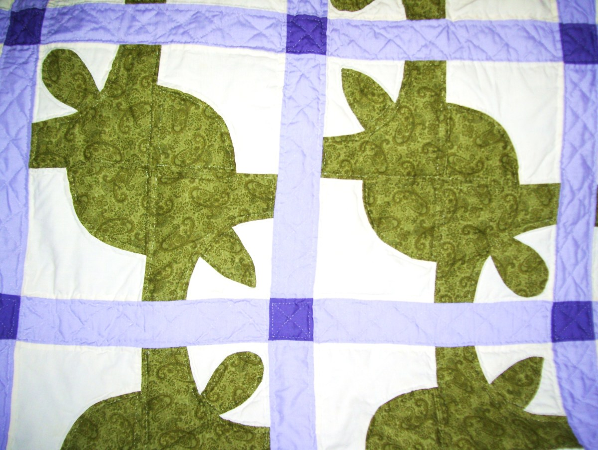 "Purple and green ""Turtle Quilt"". (2003)"