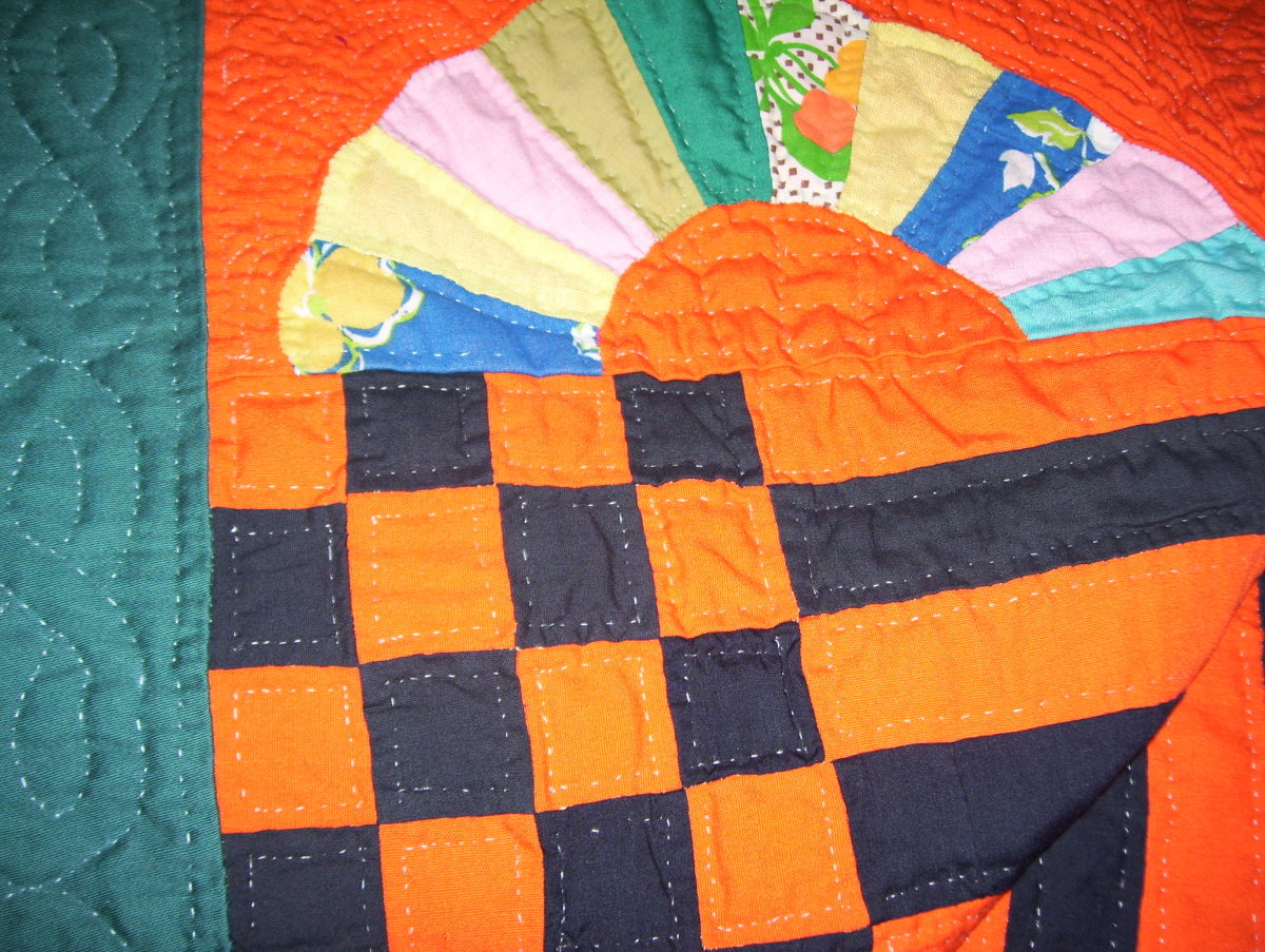 Detail of Medallion Quilt