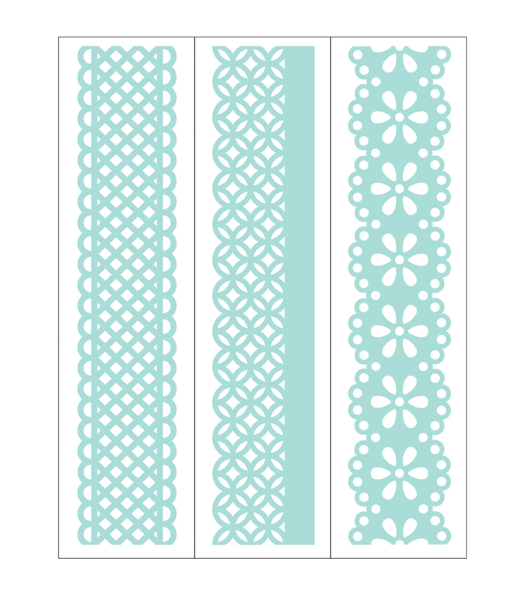 Examples of borders. They create very dimensional additions for your cards, scrapbook pages and journals