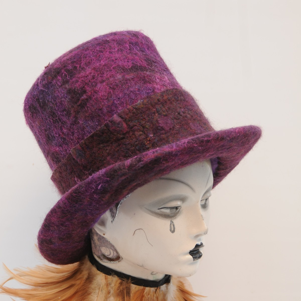 The Wet Felted Hat which was created using the  Moët and Chandon Top-Hat Ice-Bucket.