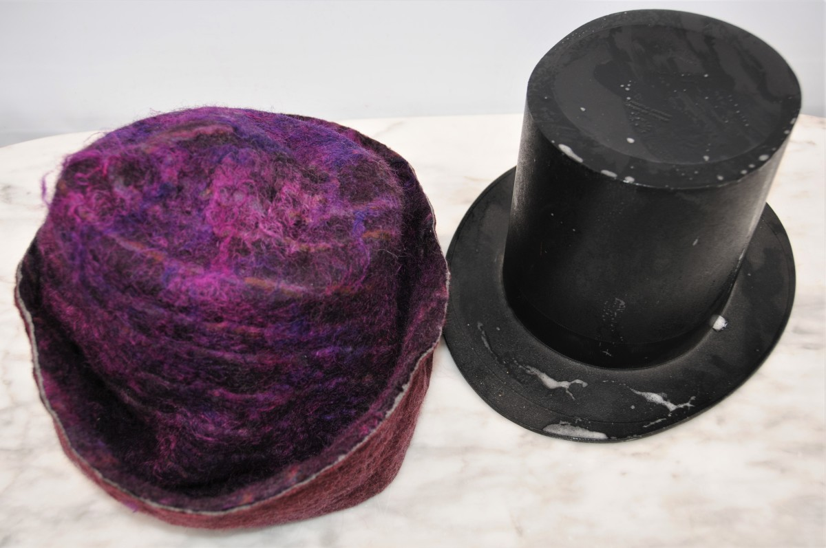 how-to-wet-felt-a-double-brimmed-top-hat