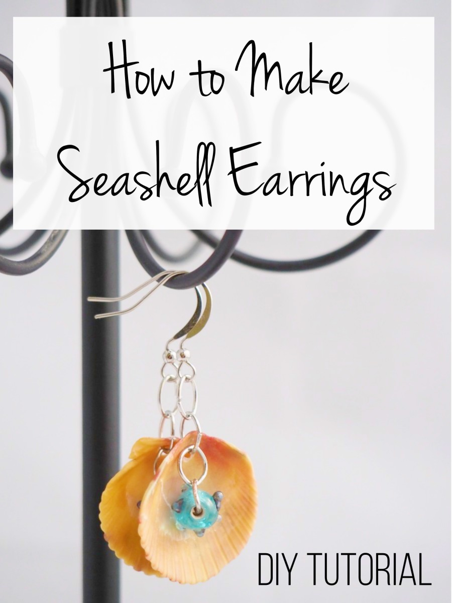 Make these fun and flirty seashell earrings with this DIY jewelry tutorial.