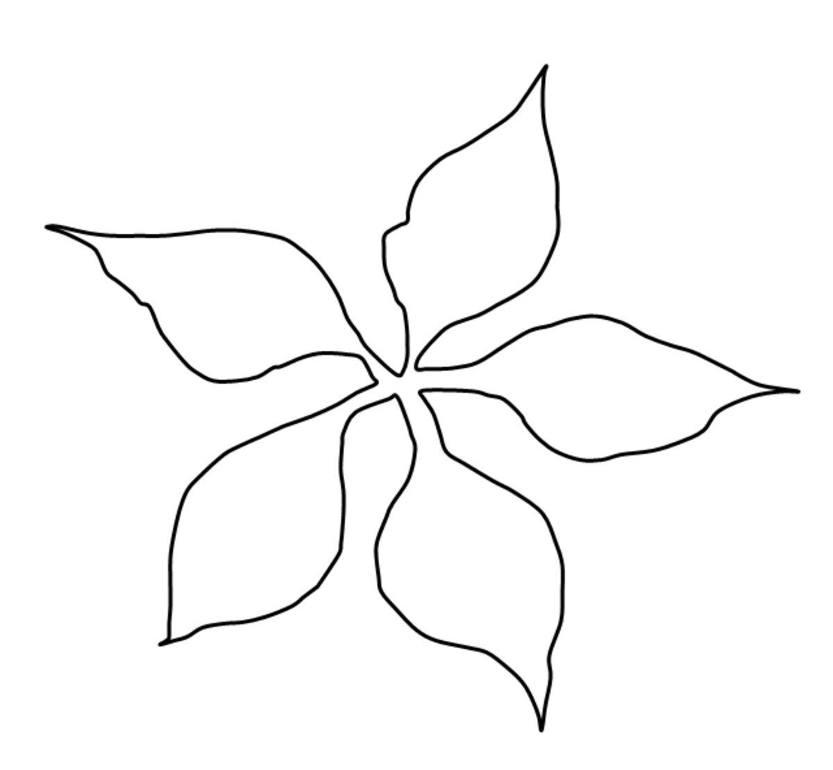 Poinsettia Christmas Card Template