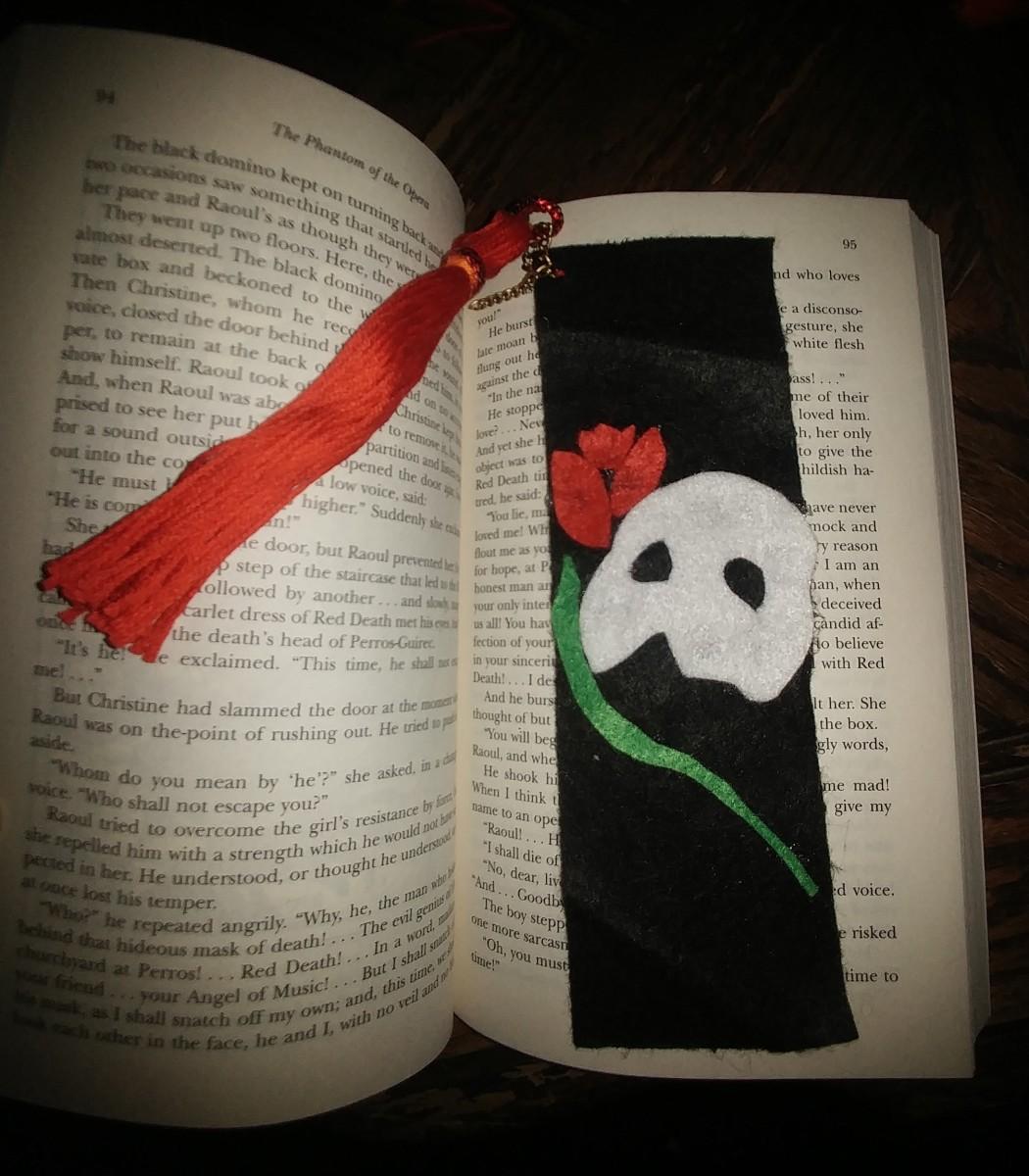 Phantom of the Opera Bookmark.