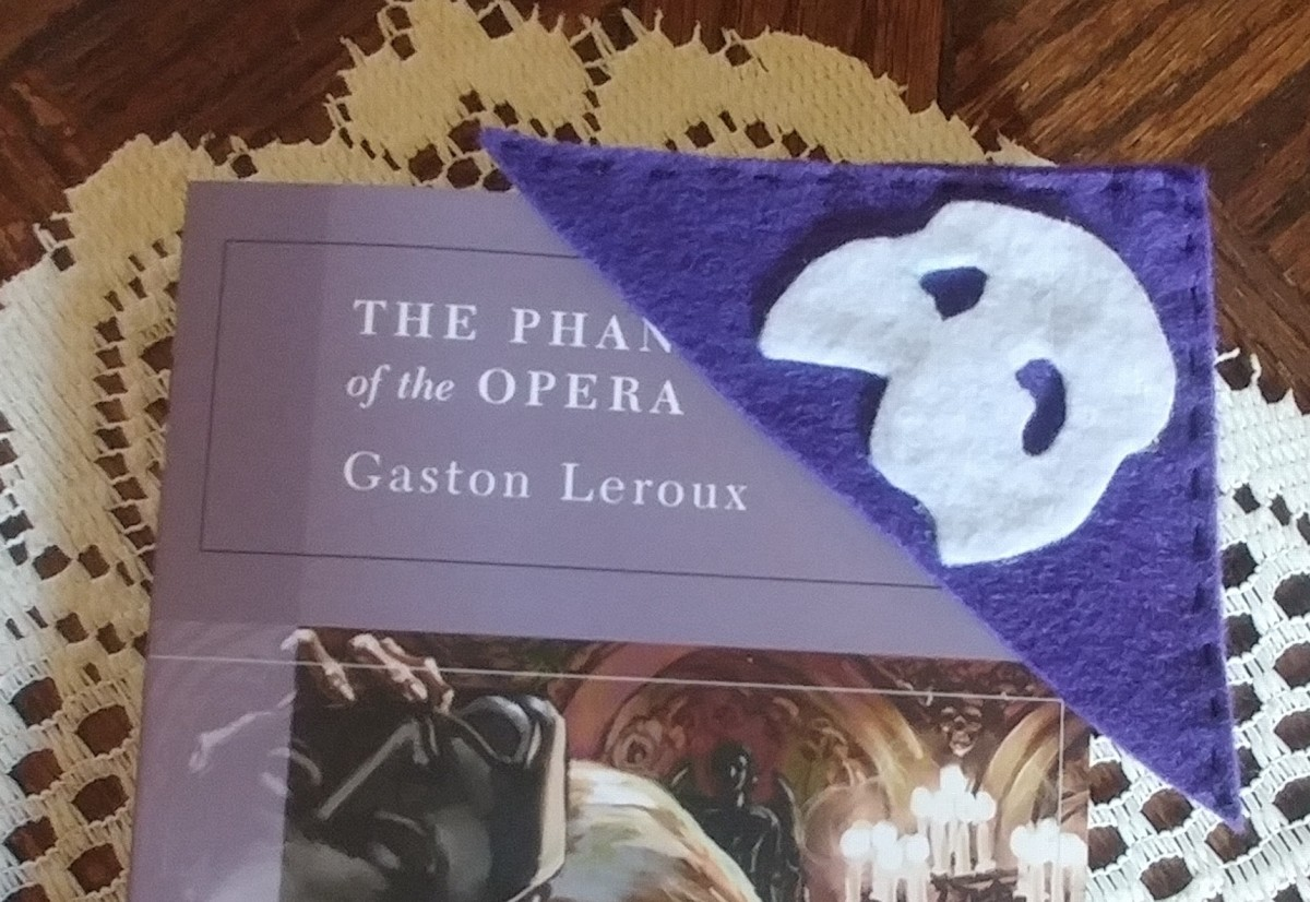 This is a flashy shaped bookmark to keep as an addition to a book collection. I made this one purple, but it can be black or any color of your preference.