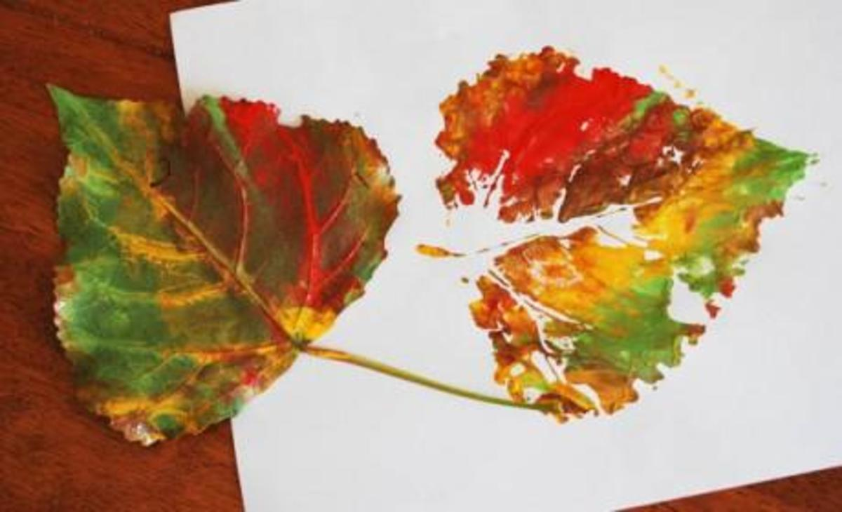 Painted Fall Leaf Stamp
