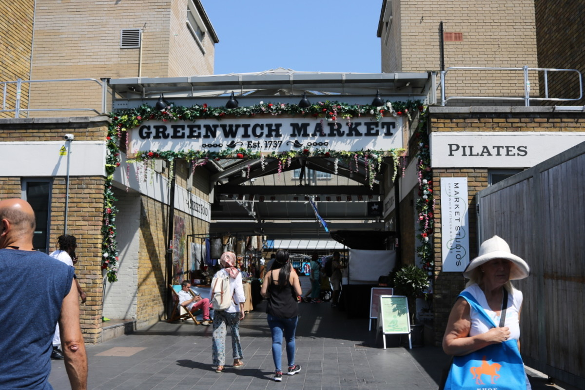 Greenwich market, London.