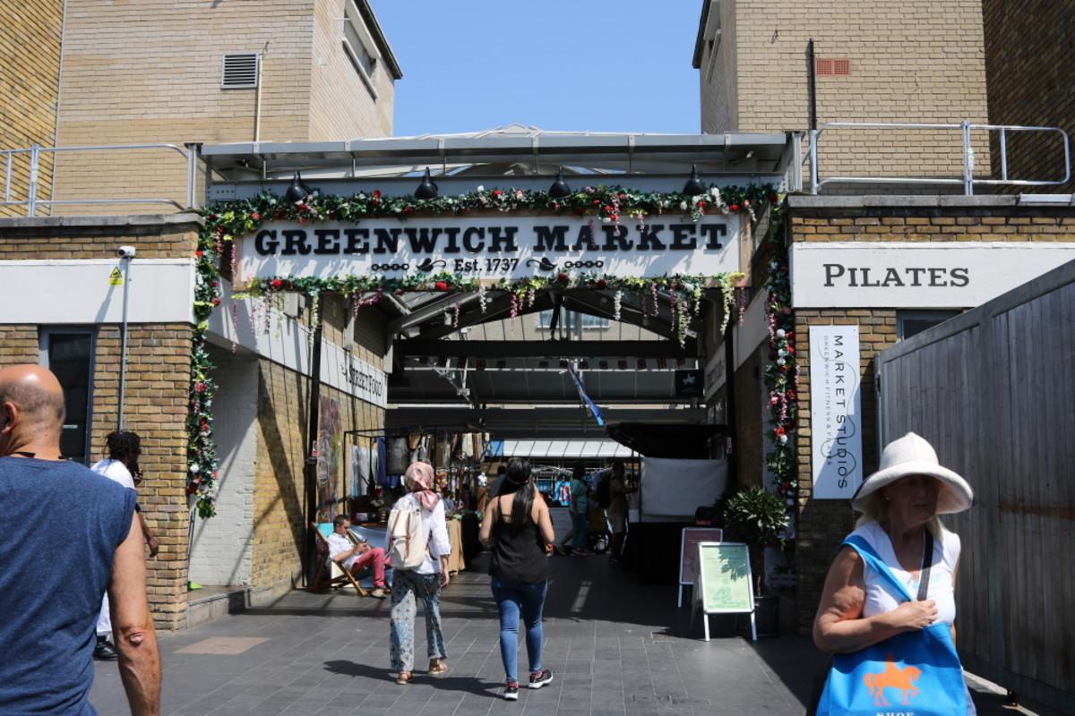 Greenwich market, London.