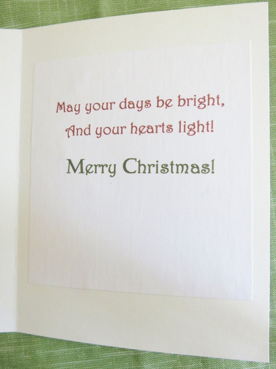 Adding a Greeting to Your Handmade Card