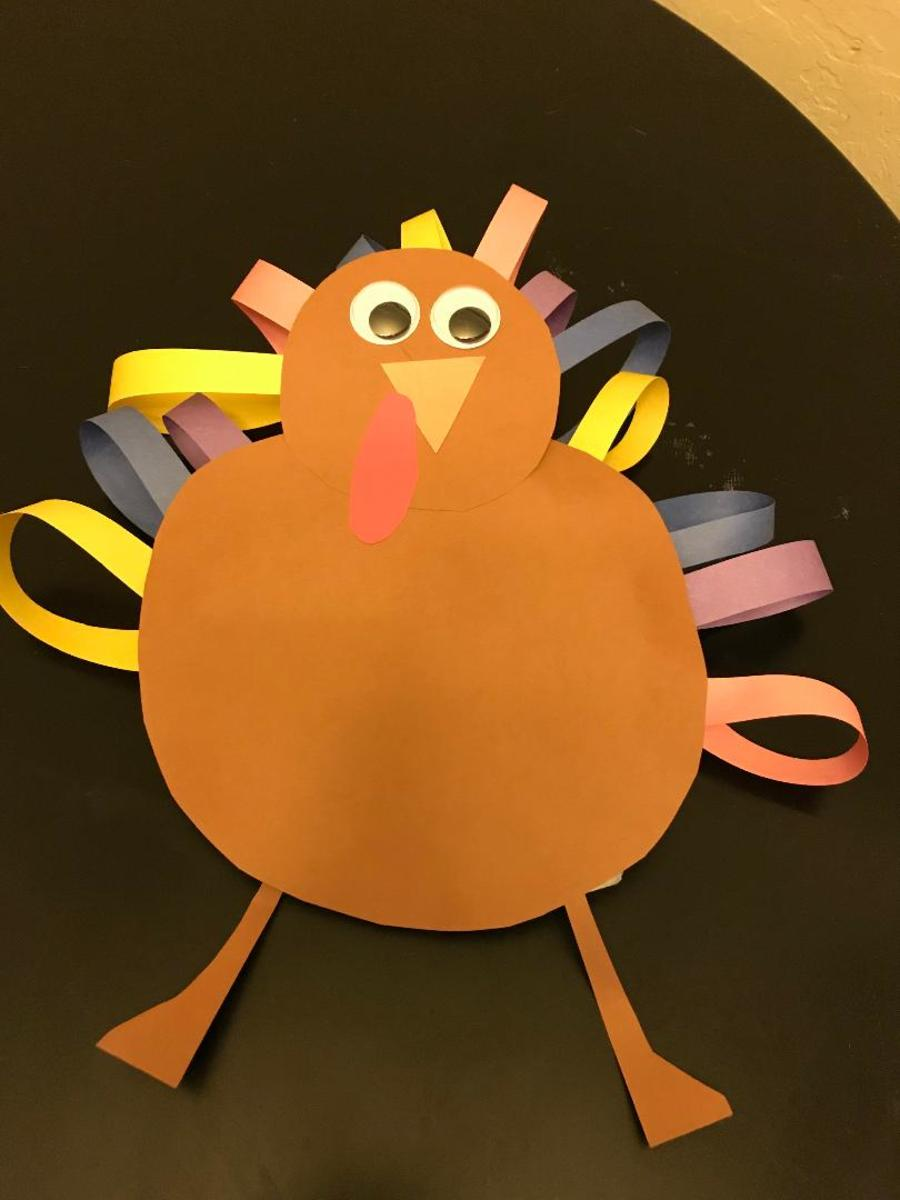 This turkey is full of fun with this variety of colors!