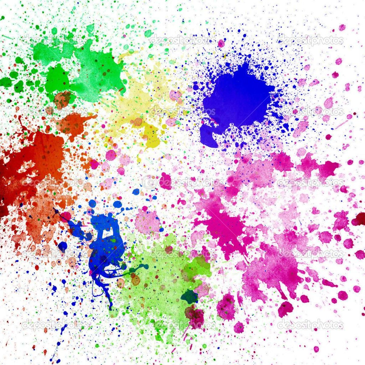 Ink splashes and splatters for a unique background.
