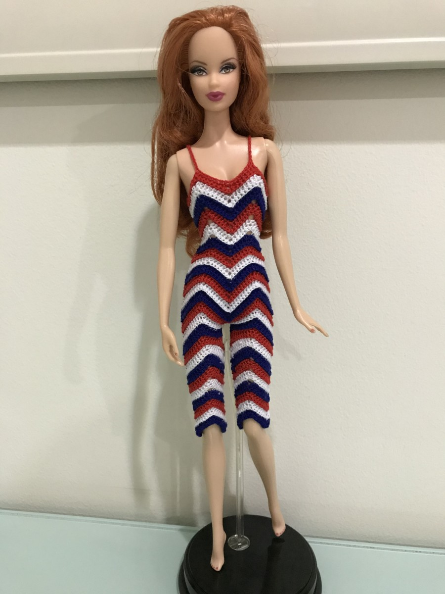 Barbie Cami Chevron Romper