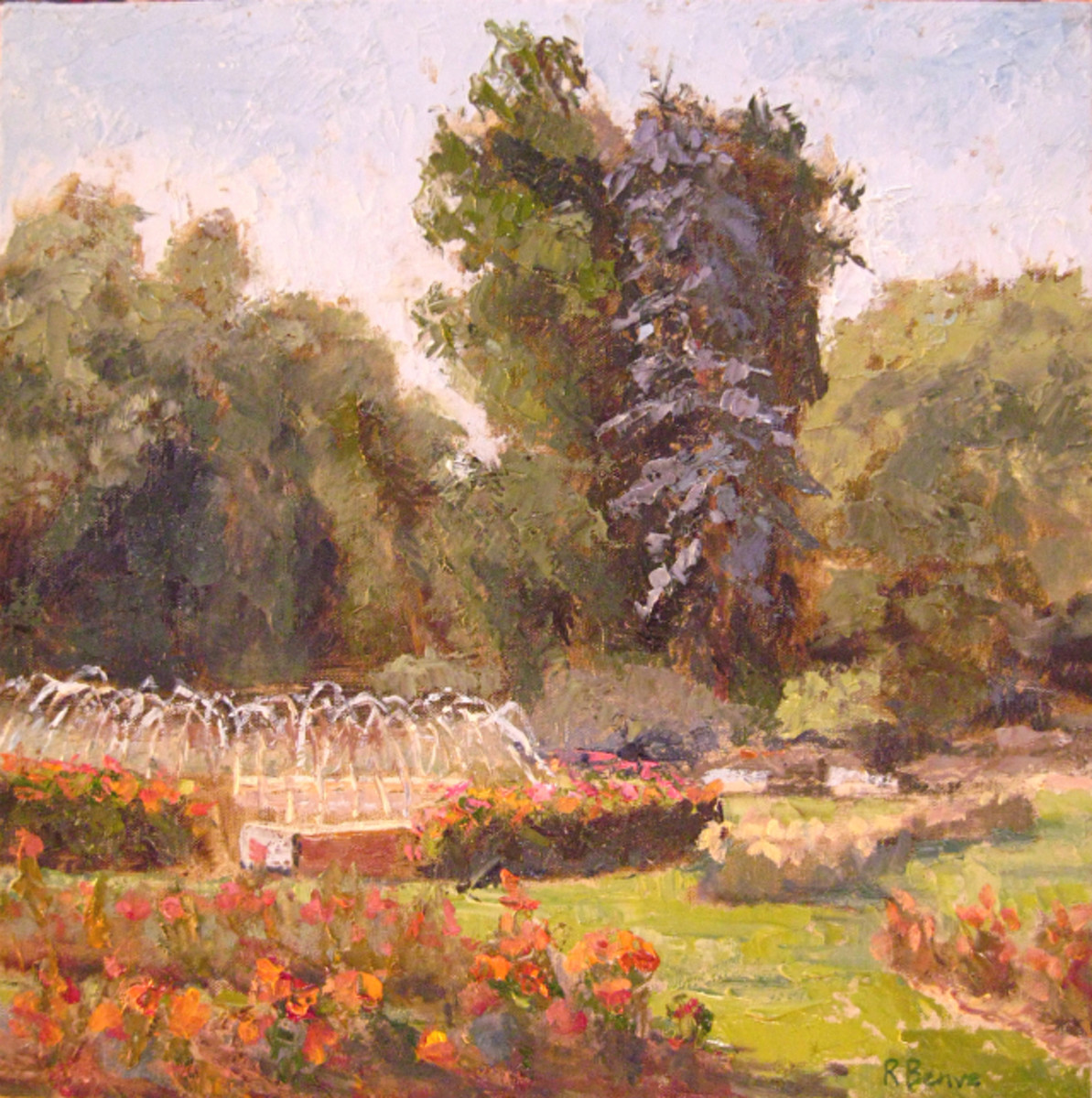 """Hopes and Smiles"" plein air oil painting by Robie Benve."