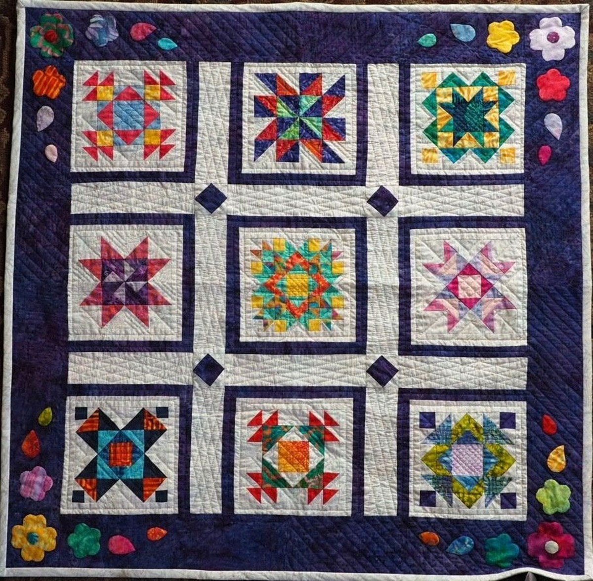 Every block is different in a sampler quilt.