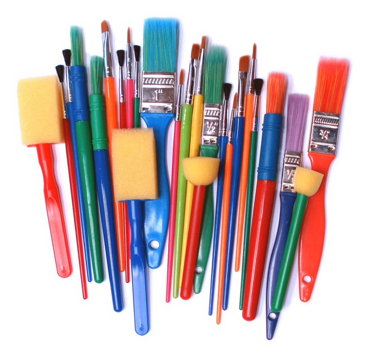 There are a variety of paint brushes available for paper crafters
