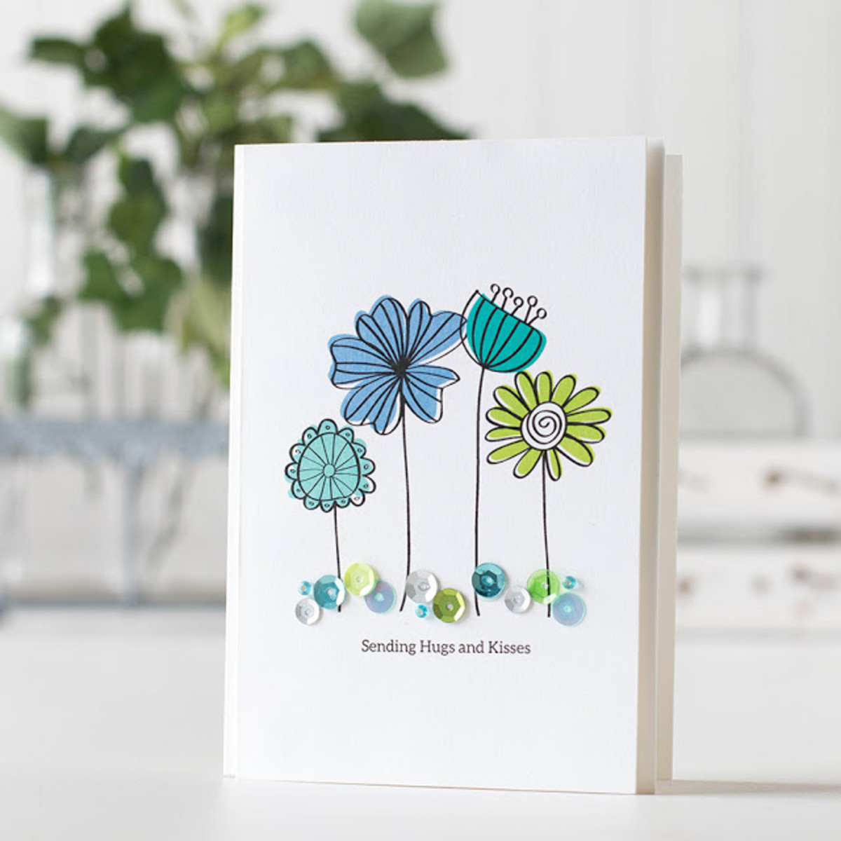 Flower stamps can be stamped directly on a project or stamped and cut out