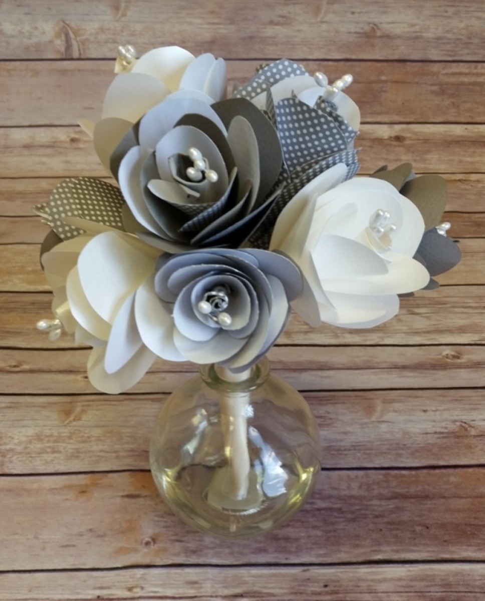 Using printed papers with your paper flowers add lots of color to your projects