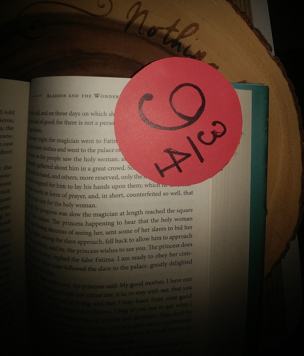 This bookmark can just slip on and off the corner of your page.