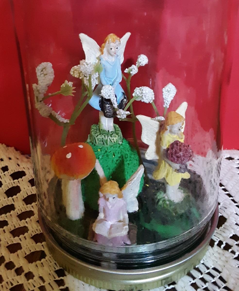 Screw the jar over the fairies.