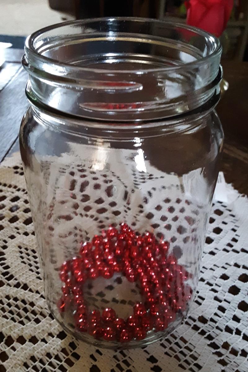 Cut each ball off into the jar.