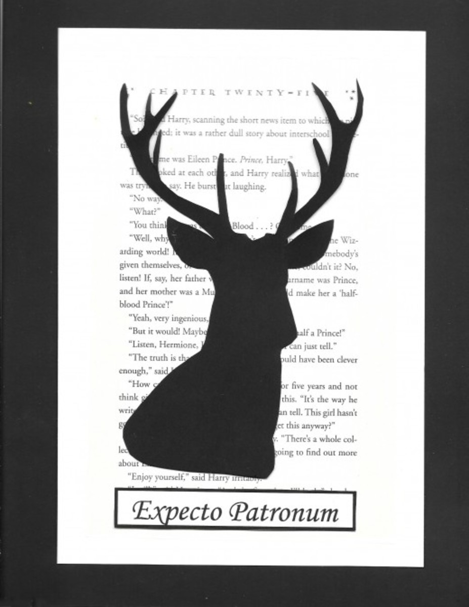 The stag: Patronus for Harry and his father.