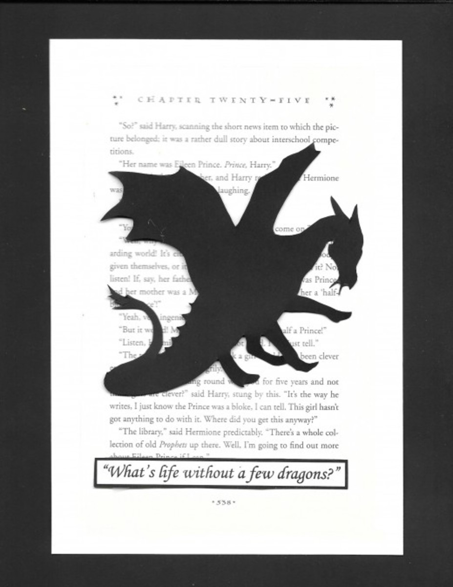 The dragon can be tricky to cut. I simplified it just a little.The quote is from Ron Weasley in Harry Potter and the Goblet of Fire.