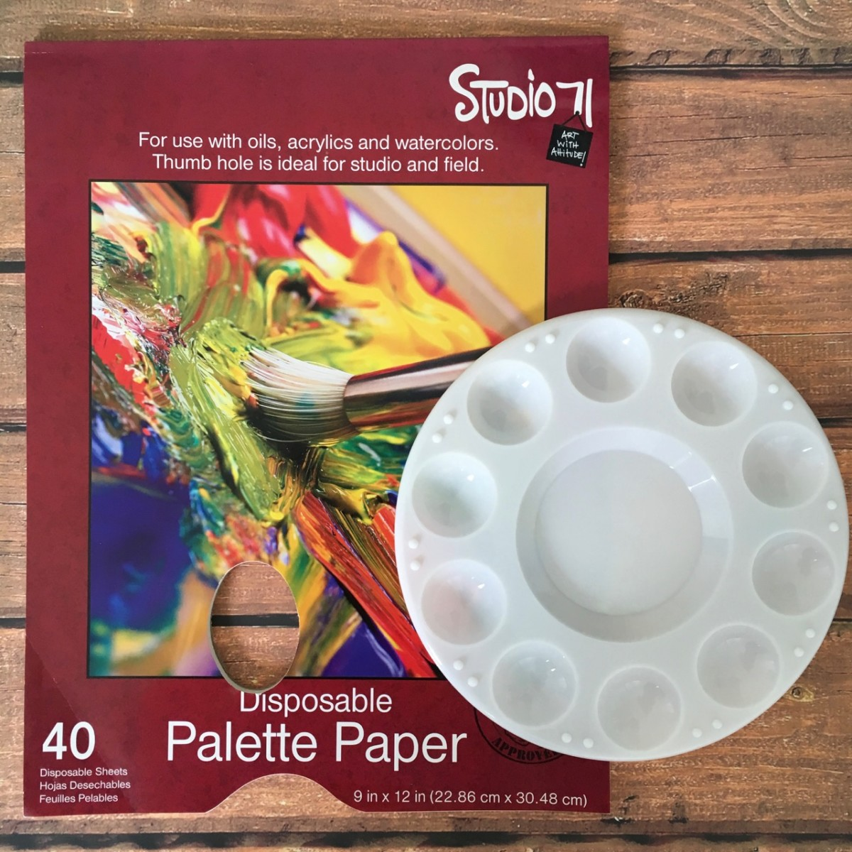 Palette Paper and Plastic Paint Palette