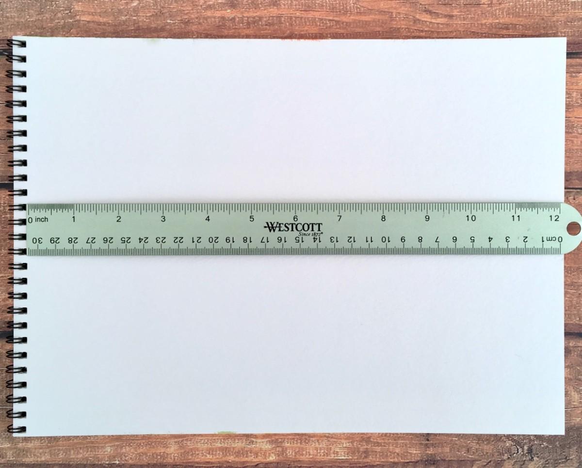 "A basic 12"" ruler"