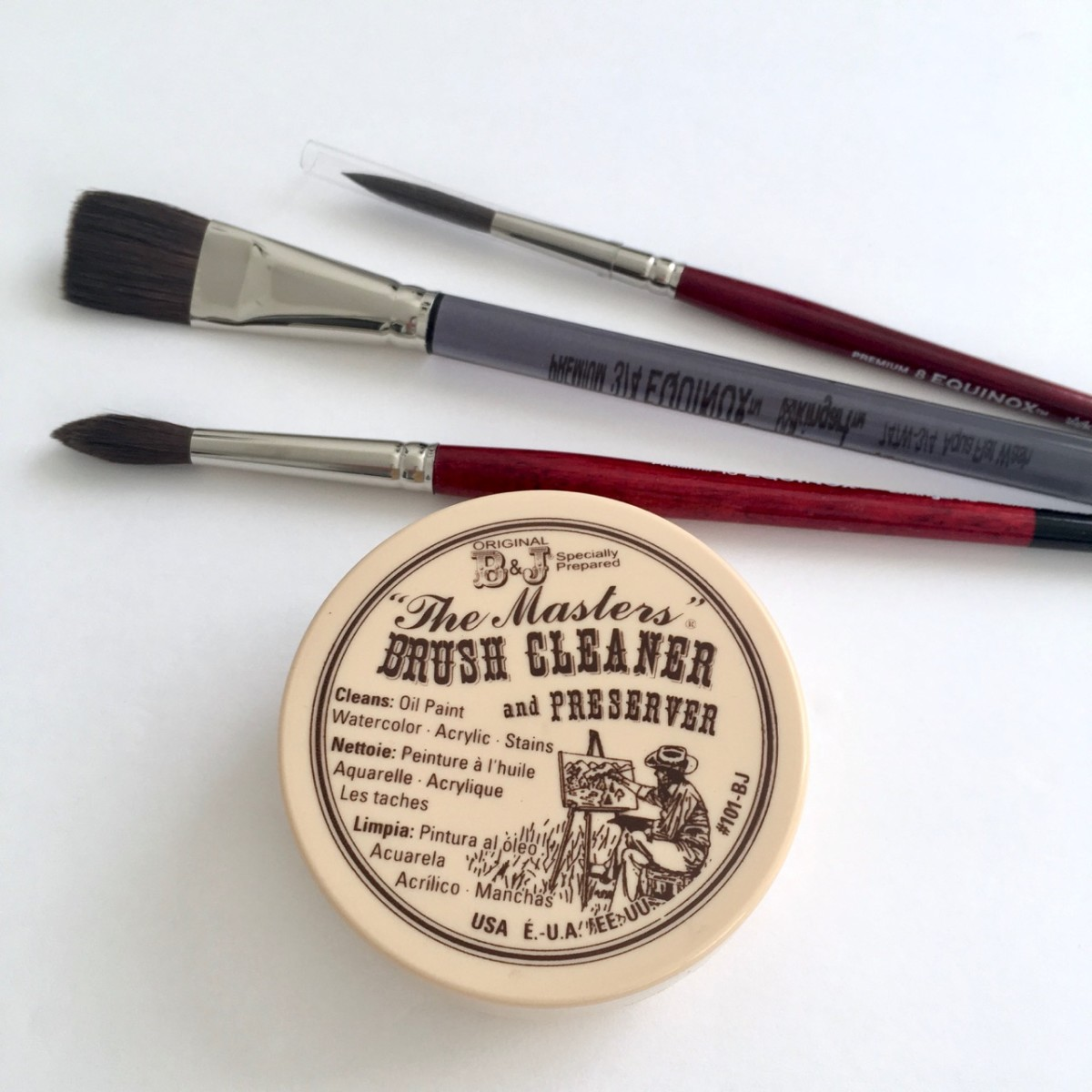 Brush Cleaner for acrylic, watercolor, and oil paint