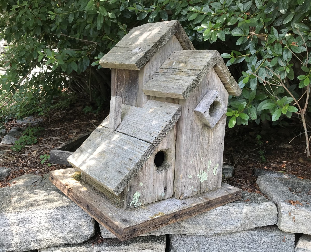 The original birdhouse fledged many families of bluebirds and wrens, and even a family of flying squirrels!