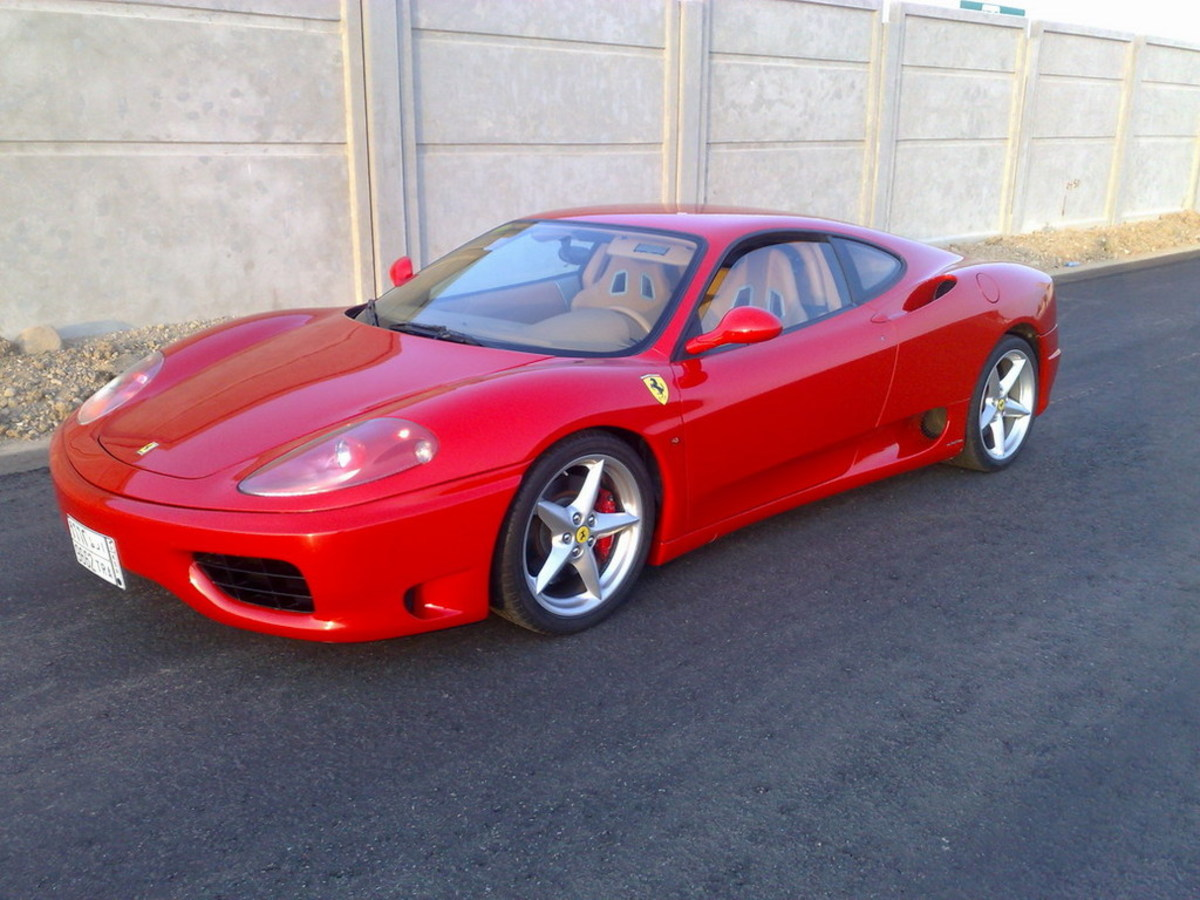 Pigment Red 254 on 2001 Ferrari 360 Modena