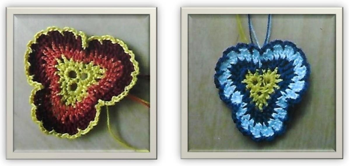 Three-petal shapes.