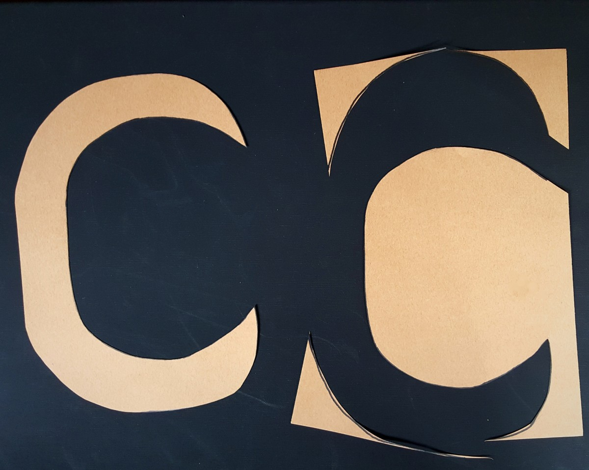 "Finished ""C"" Cut Out"