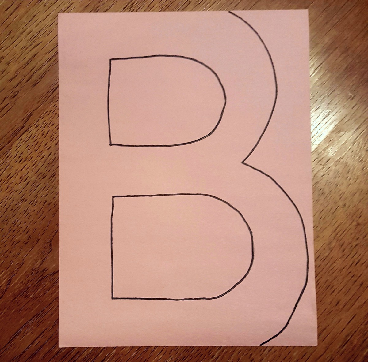 "Draw out the letter ""B"""