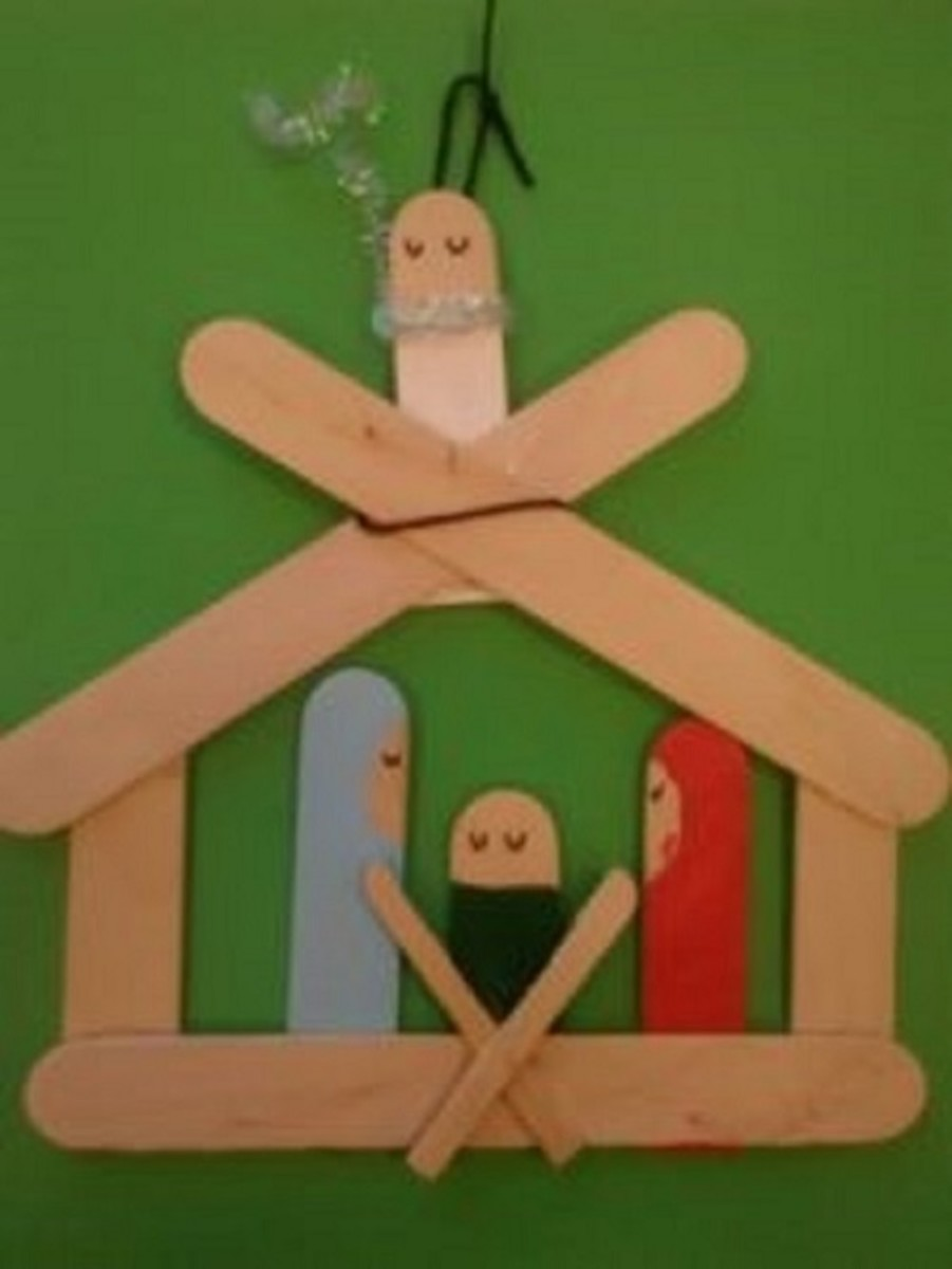 Manger With Angel