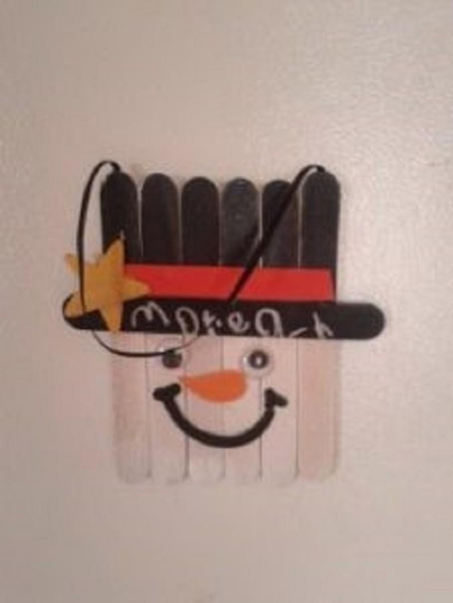 Snowman Fridge Magnet or Ornament
