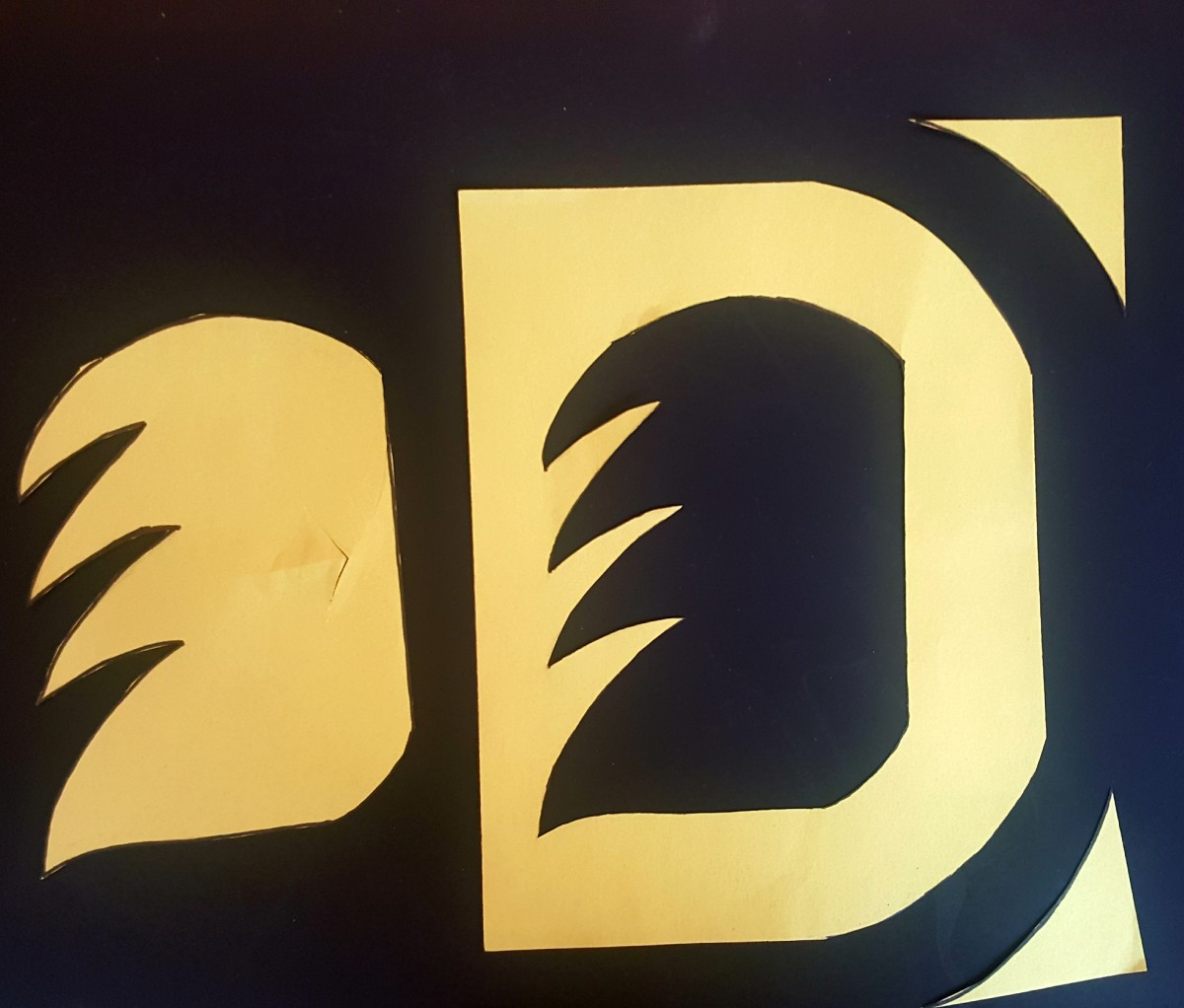 "Finished ""D"" Cut Out."