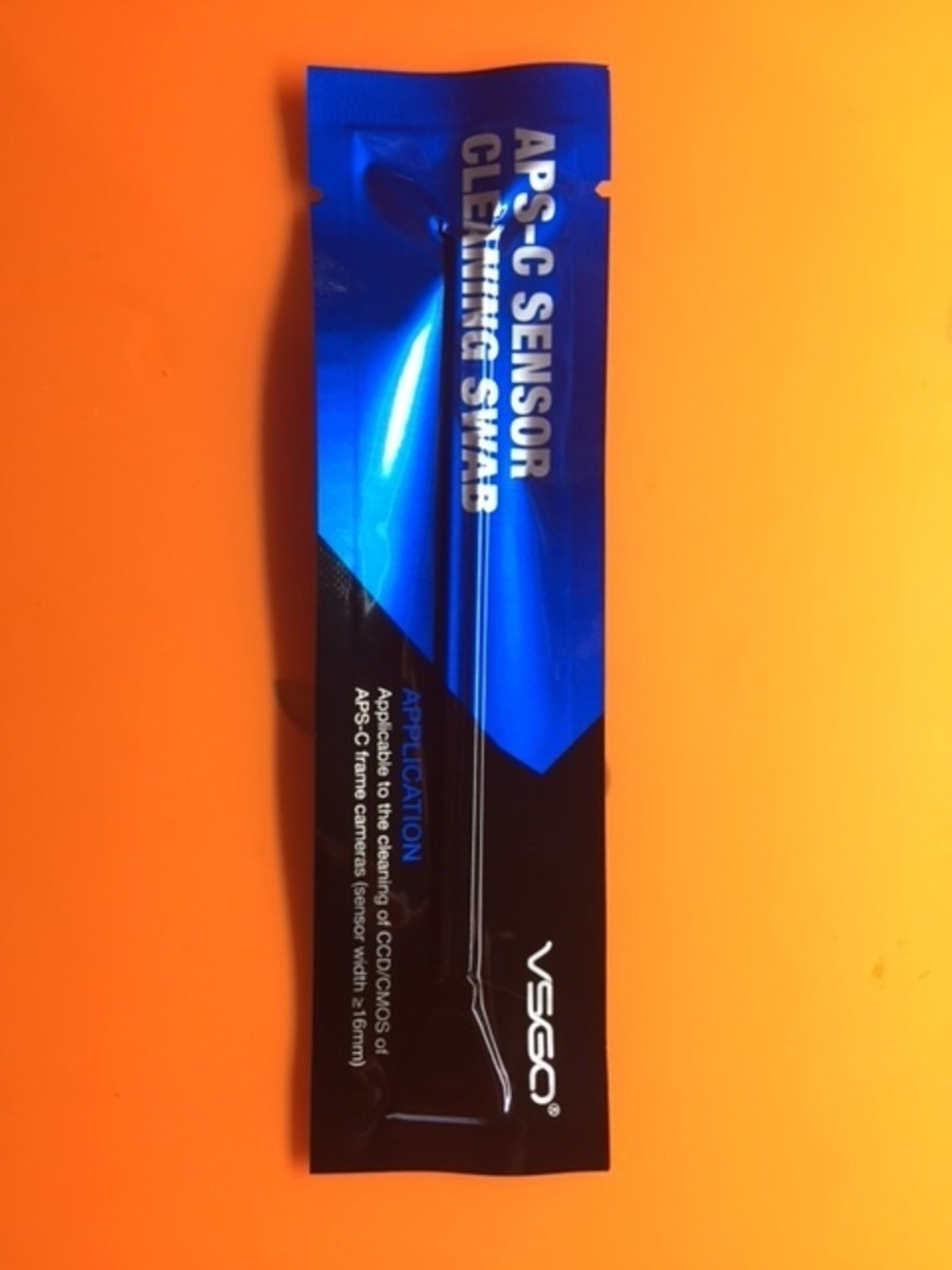 Swab in packet (the kit comes with 10 swabs).
