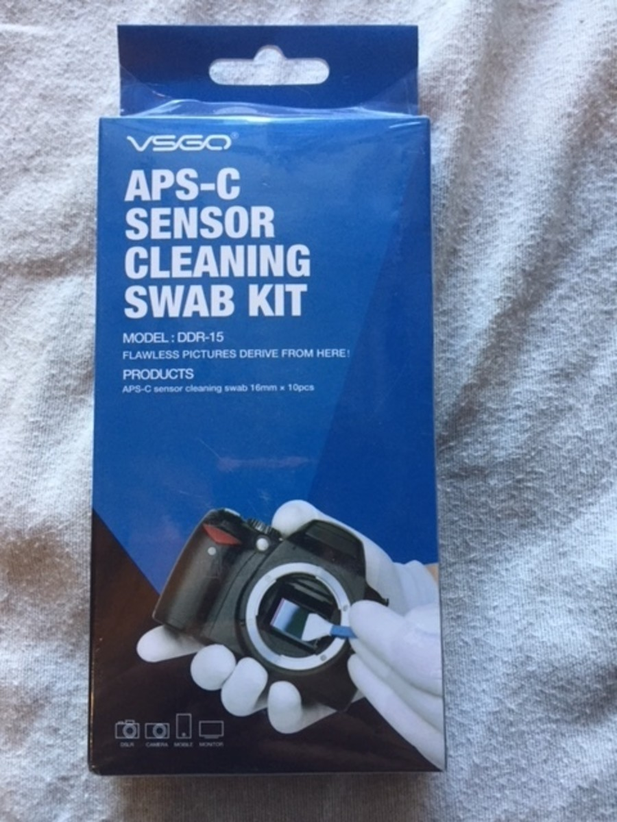 The VSGO sensor cleaning kit.
